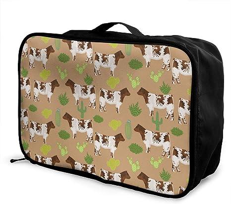Travel Luggage Duffle Bag Lightweight Portable Handbag Deer Large Capacity Waterproof Foldable Storage Tote