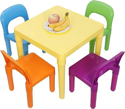 Nova Microdermabrasion Kids Table and Chair Set Children Activity Table Plastic Sturdy Desk