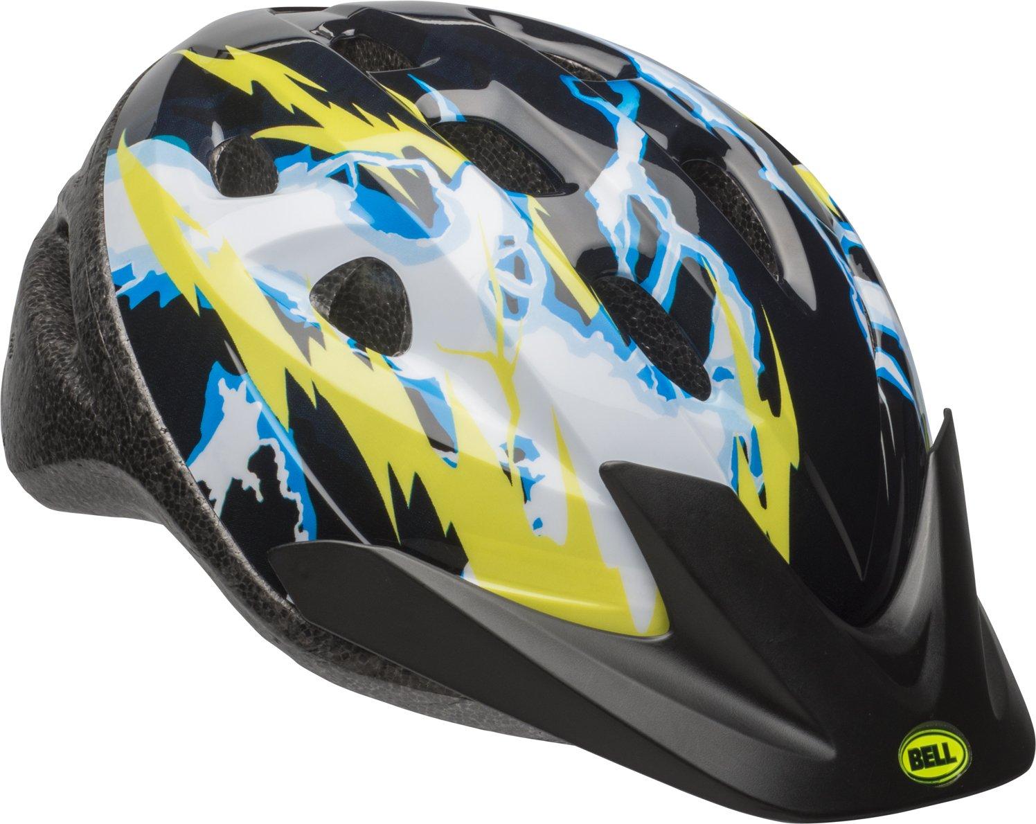 Bell 7084243 Child Rally Bike Helmet - Lightning Black & Yellow