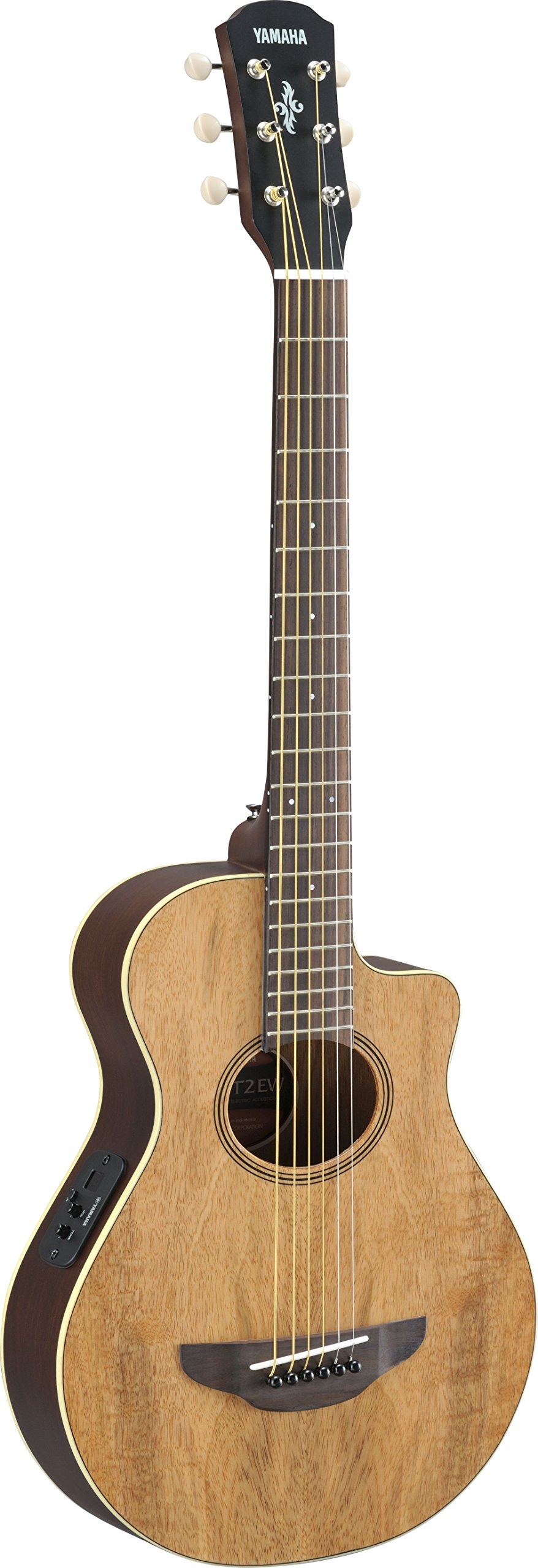 Yamaha APXT2EW 3/4-Size Acoustic-Electric Guitar with Gig Bag, Figured Natural by Yamaha PAC