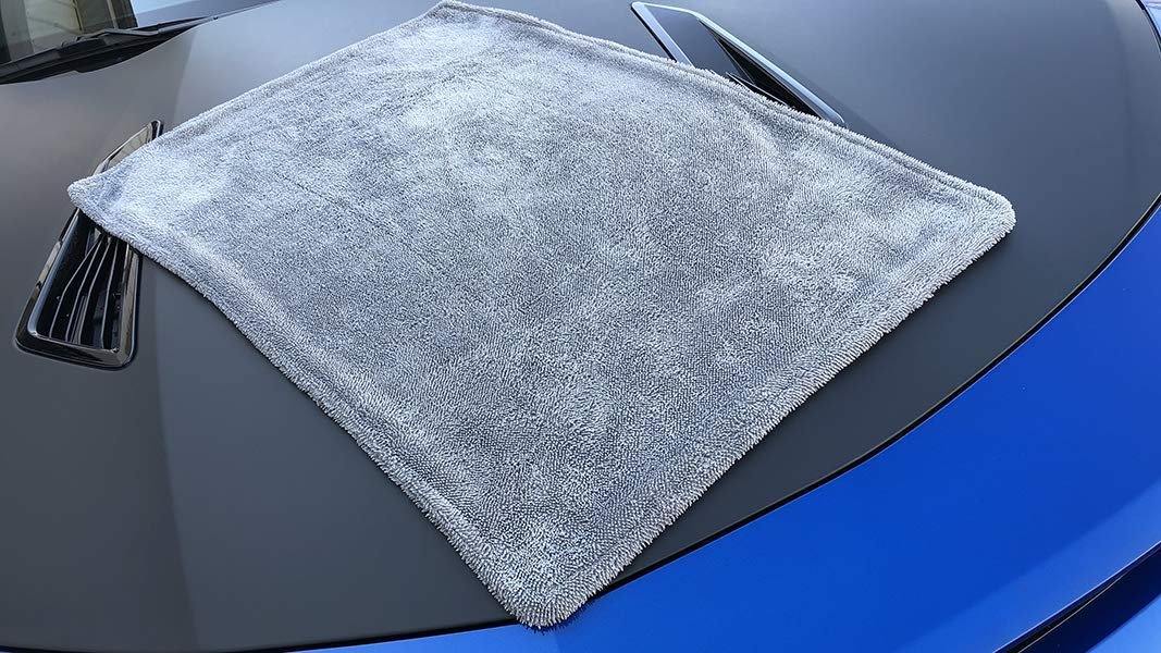Double-Twist Pile Gray 20 x 30 Trucks Superior Absorbency for Drying Cars Microfiber Car-Drying Towel and SUVs One-Pass Vehicle-Drying Towel Dreadnought