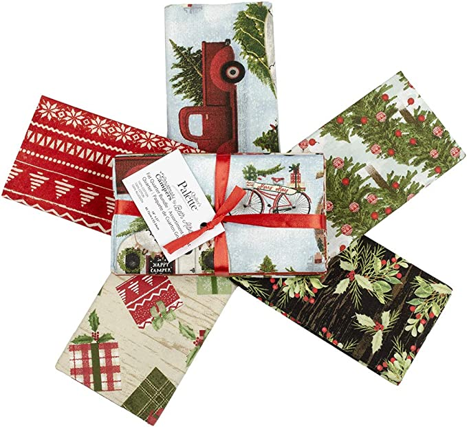 Fat Quarters fabric Festive Crafts Christmas