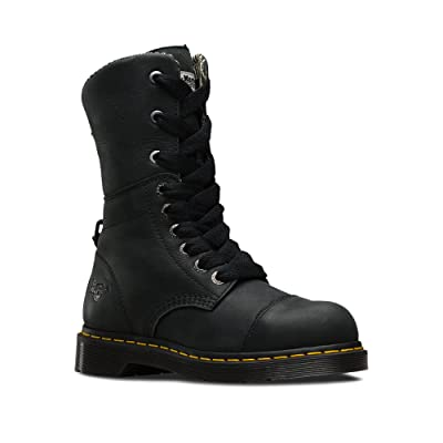 Dr. Martens Leah Steel Toe Black Wyoming UK 8 (US Women's 10): Shoes