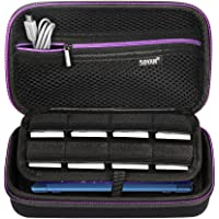 Soyan Carrying Case for Nintendo New 3DS XL and 2DS XL, with 16 SD Card Holders, Fits Wall Charger (Purple)