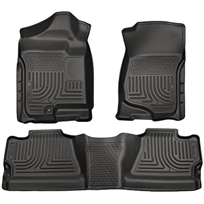 2007-2014 Chevy Silverado 2500 HD Crew Cab - Husky Liners Weatherbeater Series (Full Set Includes 1st and Second Row Footwell Coverage) - Black
