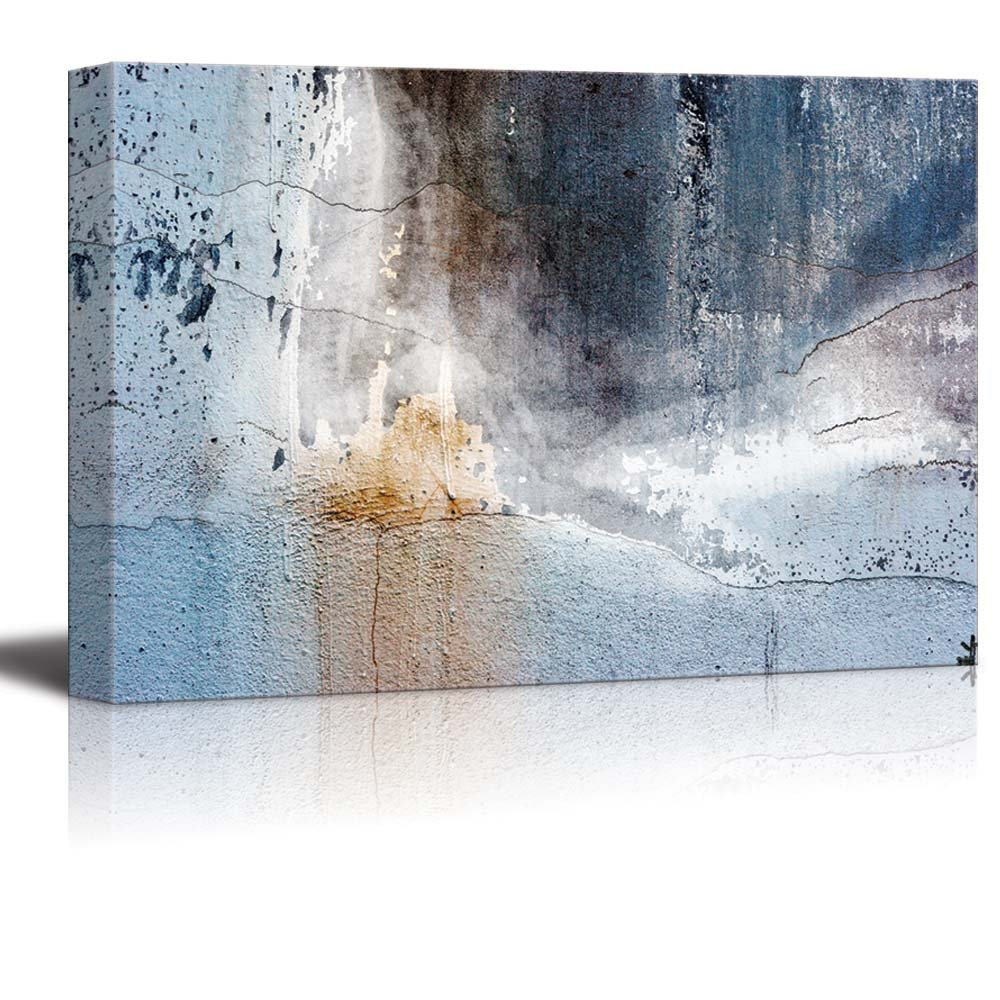 Abstract Canvas Art - Aged Wall - Giclee Print Modern Wall..