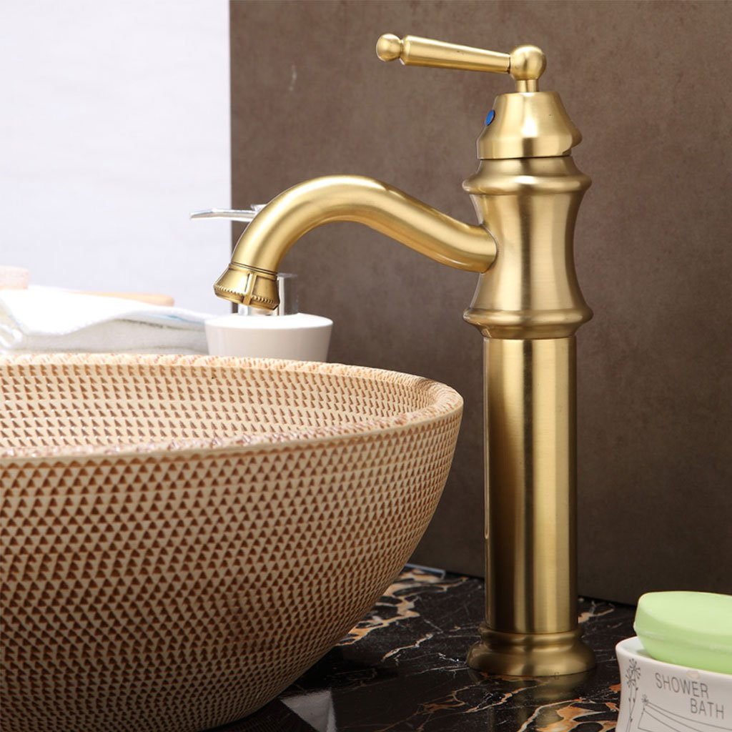 WYQLZ Antique European Retro High-end Basin Mixer Creative Fashion Hot And Cold Faucet