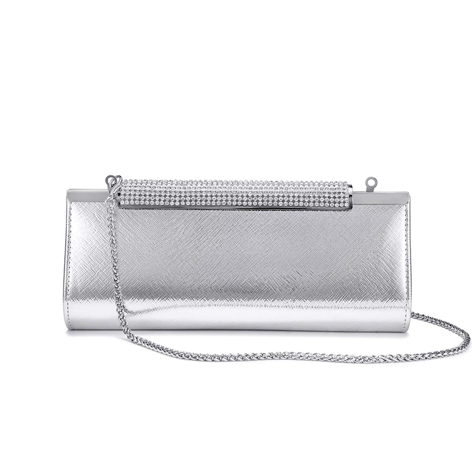 Silver Glitter Evening Bag Ladies Evening HandBag Wedding Races Prom Party