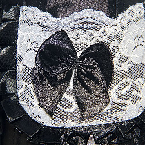 ZAMME Corsé de brocado de mujer Top de burlesco pechugón Top cintura de cintura de bodyshaper Negro