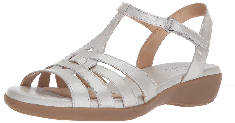 Silver Naturalizer Womens Nanci Flat Sandal