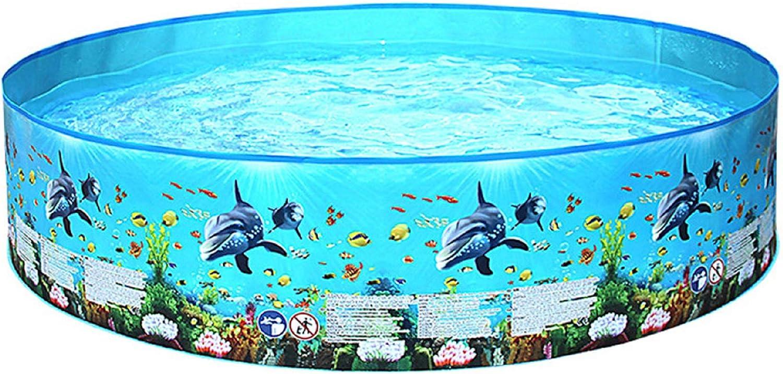 LHWY Verano Piscina Hinchable Infantil Redondas Pequeña y Grande, Familia Piscinas Desmontables Nadando Pool Inflable para Niños Bebés, Perfecto para Terrazas Jardín Interior Exterior