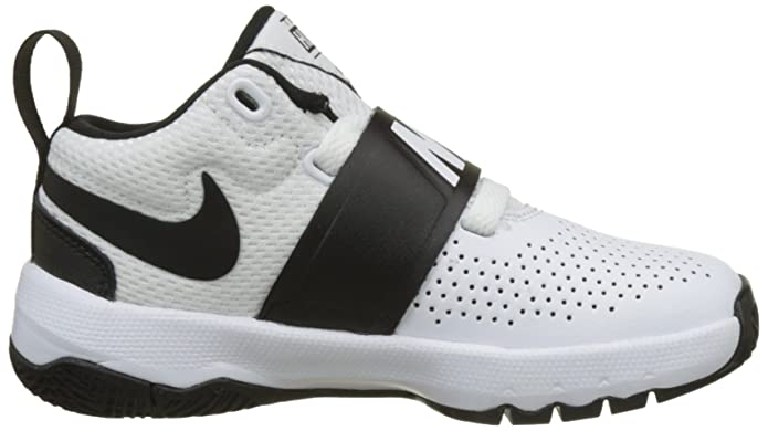 Amazon.com | Nike Boys Team Hustle D 8 (PS) Pre School Basketball Shoe White/Black Size 11 Kids US | Basketball