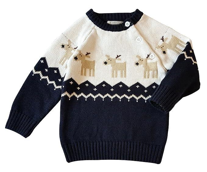 YuanDian Baby Unisex Pullover Stricken Weihnachten Langarm Elche ...