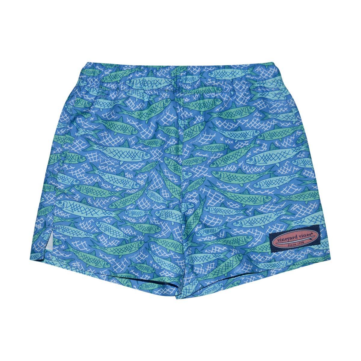 b50e20e5e6 Amazon.com: Vineyard Vines Boy's Chappy Swim Trunks: Clothing