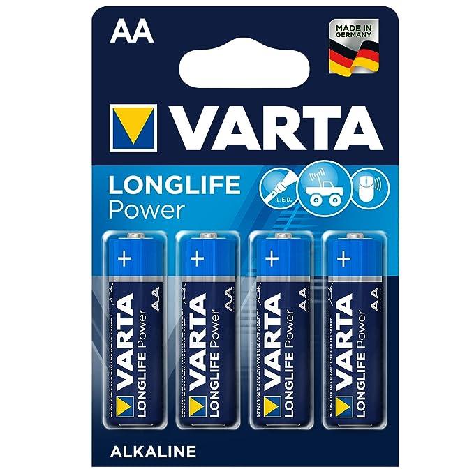 VARTA Longlife Power - Pilas Alcalinas AA / Mignon / LR6, Pack x4: Amazon.es: Electrónica