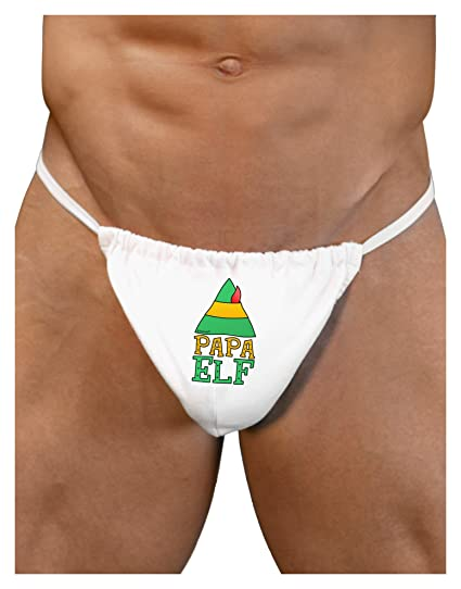 8d8beca589 TooLoud Matching Christmas Design - Elf Family - Papa Elf Mens G-String  Underwear Large