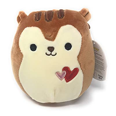 "Squishmallow 5"" Nic The Valentine Brown Squirrel Stuffed Animal Plush Pillow Pet …: Toys & Games"