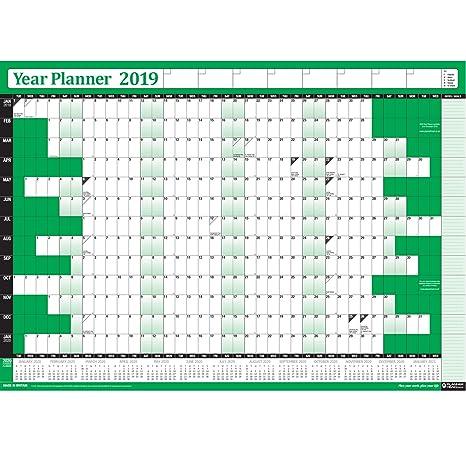 2019/planner annuale calendario da parete laminato