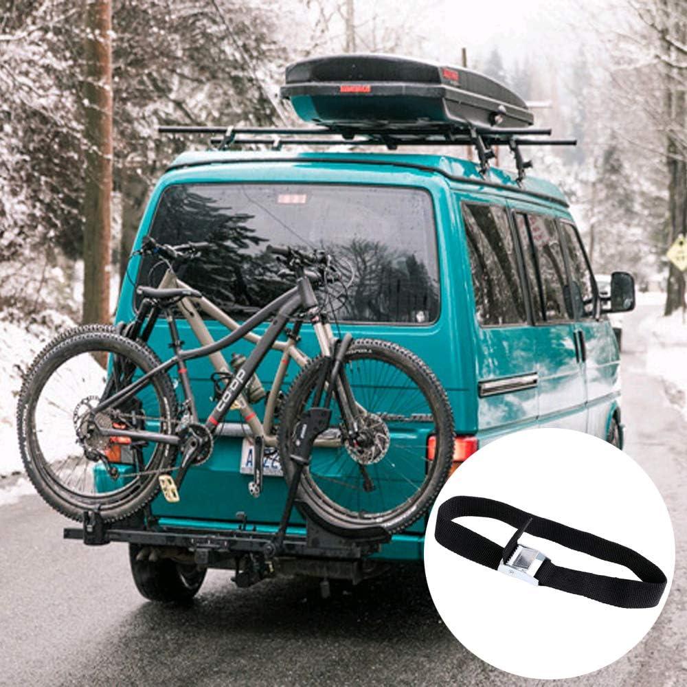 SUV y camping Juego de 10 correas tensoras de sujeci/ón para fijar al portabicicletas con cierre de apriete portabicicletas para caravana negro, 2 cm x 40 cm correas de amarre para coche Mizomor