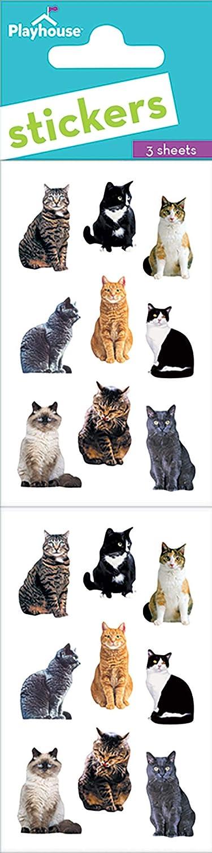 Playhouse Pretty Kitties Micro Mini Sticker Sheet Paper House