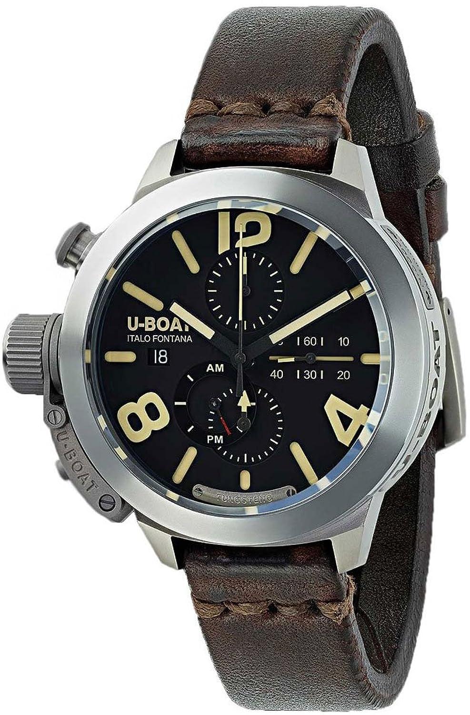 ユーボート 腕時計 イタリアブランド 自動巻 スイス製ムーブメント クロノグラフ チタン 299個限定 8061 [並行輸入品] B06WVHTS71