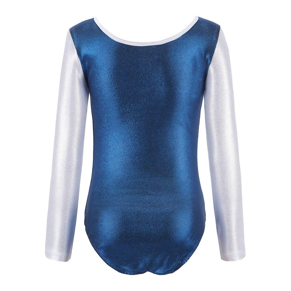 Ukyzddio Christmas Decors Long Sleeve Athletic Dance Gymnastic Leotards Bodysuit Girl