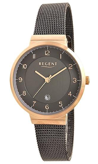 Regent Reloj mujer acero inoxidable reloj de pulsera Modelo HM 8013: Amazon.es: Relojes