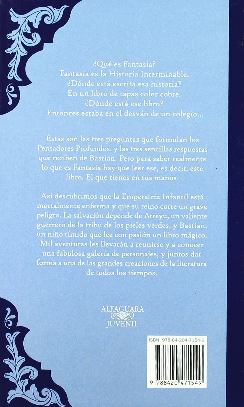 La Historia Interminable Colección Alfaguara Clásicos: Amazon.es: Michael  Ende: Libros