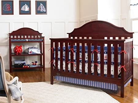 Serta Hanover Fixed-Side Convertible Crib, Classic Cherry Discontinued by Manufacturer