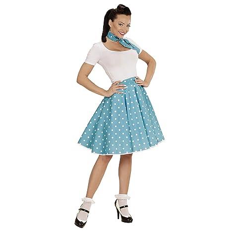 WIDMANN 01080-50s Disfraz Adulto RocknRoll Chica, Lunares falda ...