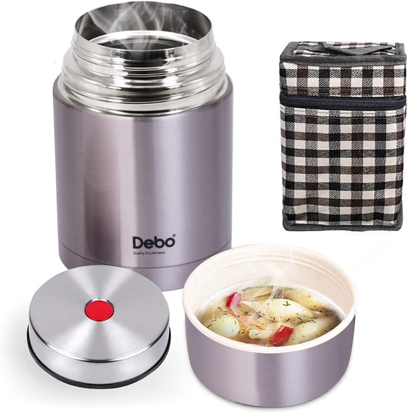 Thermos For Hot Food Thermos Food Jar Food Thermos 18/8 Stainless Steel Bpa-Free 26 Ounce Keeps Food Liquid Hot or Cold 24 Hours for Kids School Lunches Bring Lunch to Work Purple…