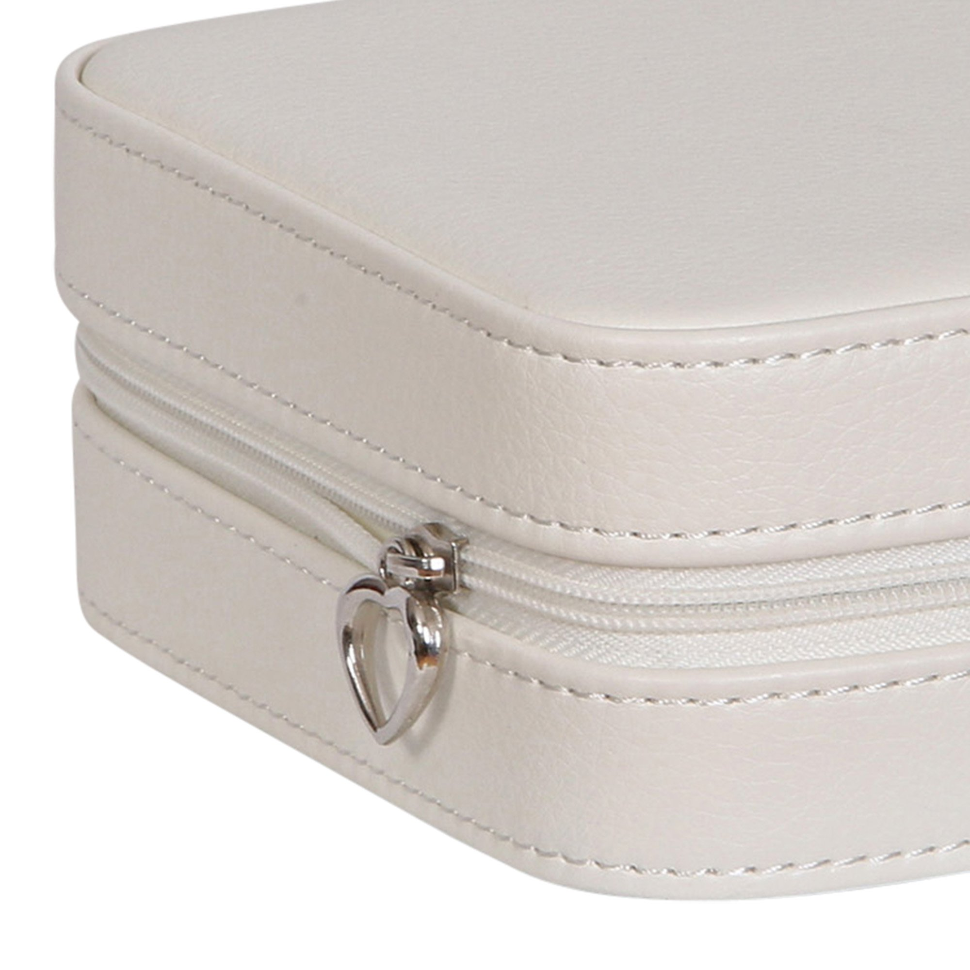 Mele & Co. Dana Travel Jewelry Case in Faux Leather (Ivory) by Mele & Co. (Image #4)