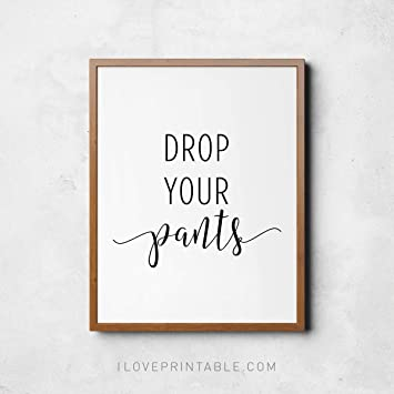 image relating to Printable Bathroom Wall Art named : Framed Indicator Reduce Your Trousers Toilet Wall Decor
