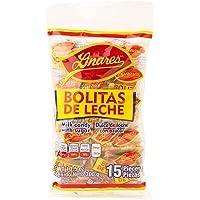 Bolitas de Leche Linares, Dulce de Leche de Cabra Cubierto de Azúcar - Multipack de 4 Bolsas (15 piezas de 20 g por bolsa)