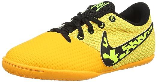 Nike Jr. Elaststico Pro III IC Indoor Soccer Shoes (Laser Orange) Sz.
