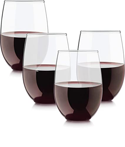 4c5287f70f7 Amazon.com | Circleware 55491 Stemless Wine Glasses Limited Edition Set of  4, 15 oz, Downtown 4pc: Wine Glasses