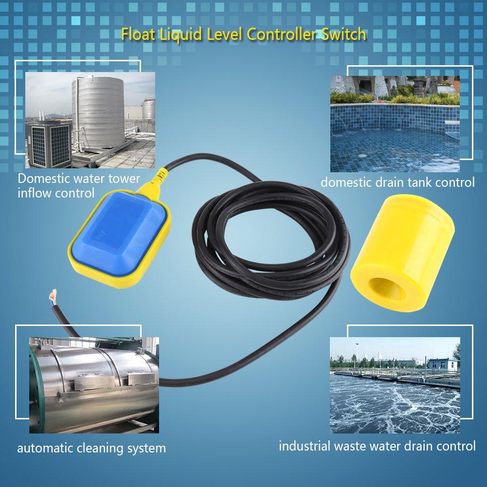 Sumpfpumpe Schwimmerschalter Wasserstandsregler Fl/üssigkeit Fl/üssigkeitsstand Rechteckiger Wasserstandsensor f/ür Wassertank