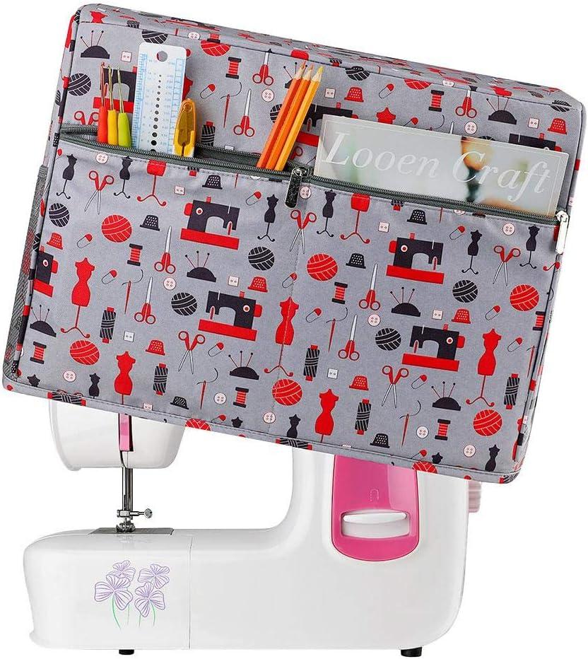 Libelyef - Funda para máquina de coser (44,5 x 20,3 x 34,3 cm): Amazon.es: Hogar