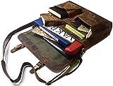16 Inch Vintage Handmade Leather Messenger Bag for