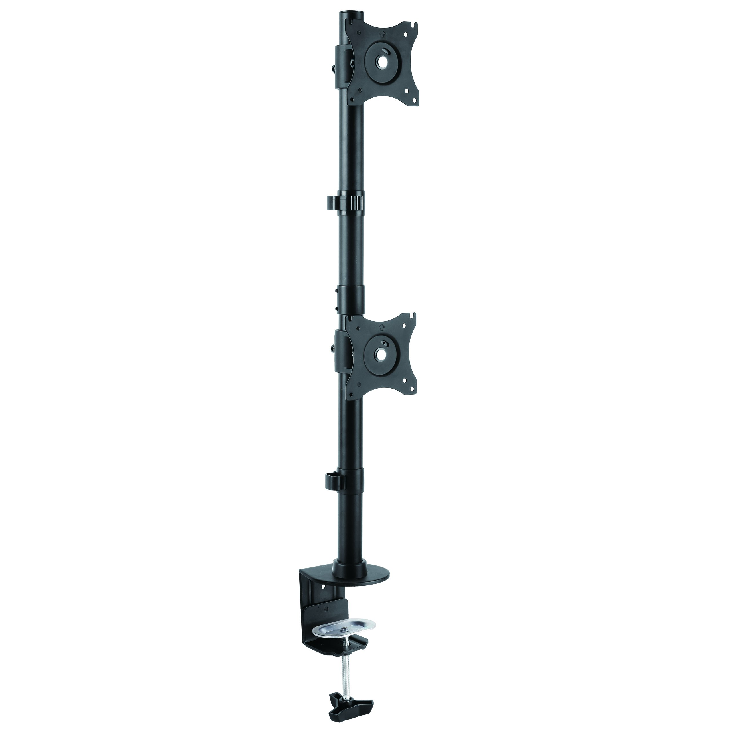 StarTech.com Vertical Dual Monitor Mount - Heavy Duty Steel for VESA Mount Monitors up to 27'' (ARMDUALV)
