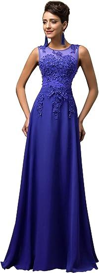 TALLA 44. GRACE KARIN Vestido Elegante para Boda Ceremonia De Vuelo Encaje Floral Precioso Maxi Blanco 44