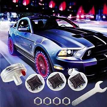 4pcs Chrome Aluminum Wheel Rim Tire Valve Stem Cap Dust Cover Car motor Blue