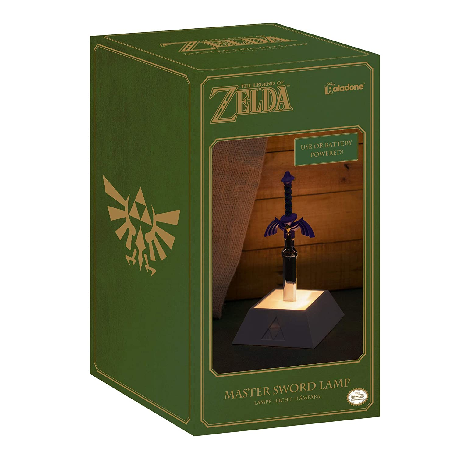 Legend Of Zelda Master Sword Lamp 3d Iconic Night Light Nintendo Usb Or Battery Powered 30cm Tall Ideal For Bedrooms Office Study Dining Room