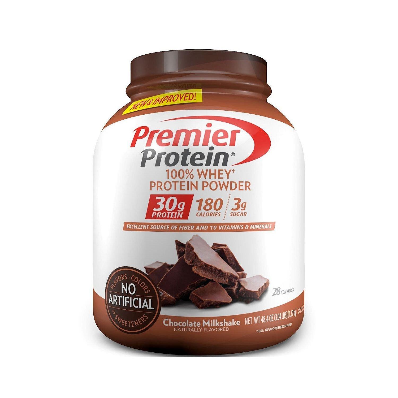 Premier Protein Whey Powder, Chocolate Milkshake, 3 Pound