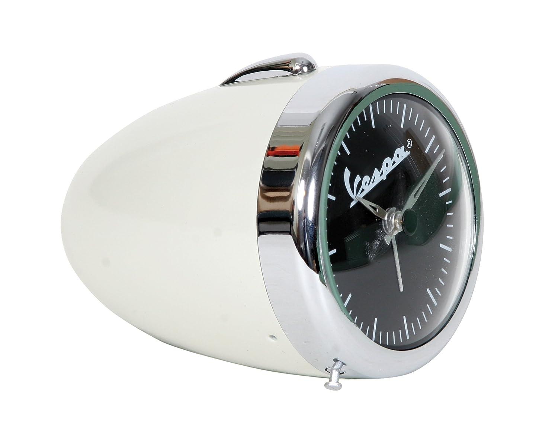 Vespa Nostalgische Uhr im Scheinwerferdesign Original Vespa Vespa Vespa super Geschenkidee Chrom   CREMEWEIß f6b4c3