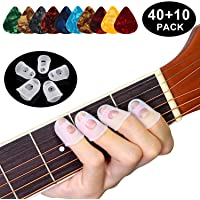 40pcs Guitar Silicone Finger Protection Finger Protector Covers Caps in 5 Sizes