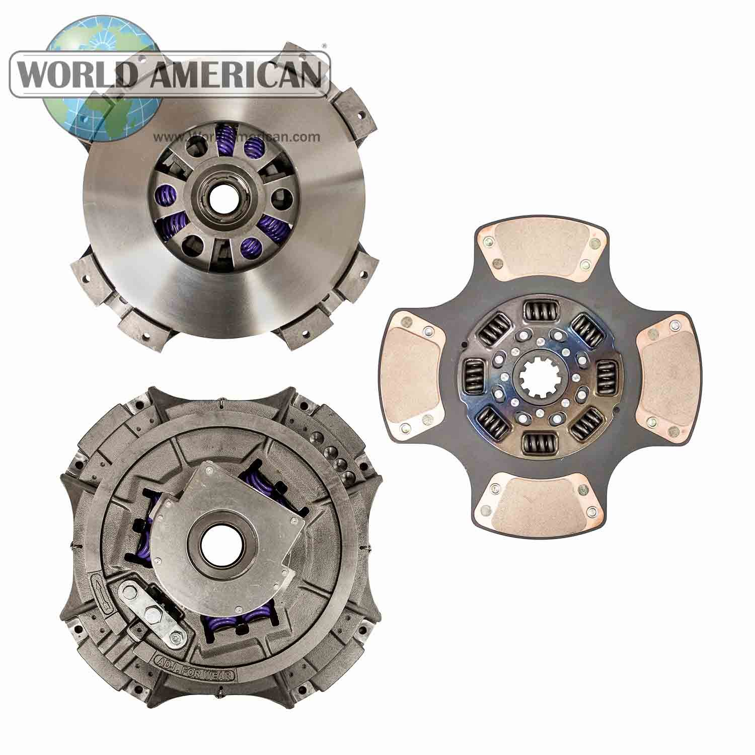 World American WA107915-1 Clutch Kit (14''x 1.75'' Steel, 3 Paddle, 8 Springs) by World American