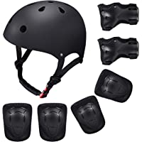 SKL Children's Scooter BMX Bike Helmet, Gel Knee, Elbow Pads and Hand Pads