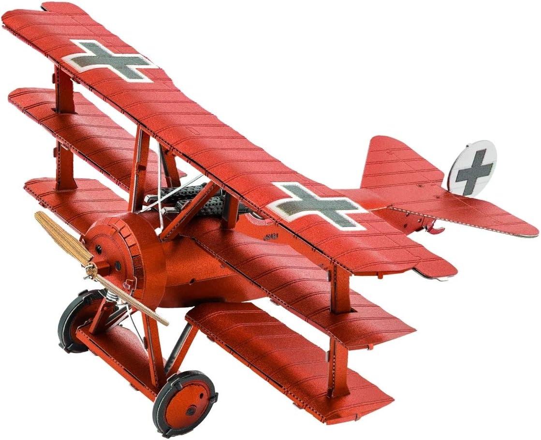 Fascinations Mms210 Metal Earth 502473 Tri Wing Fokker Roter Baron Lasergeschnittener 3d Konstruktionsbausatz 2 Metallplatinen Ab 14 Jahren Spielzeug