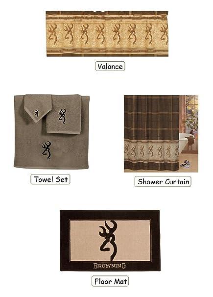 Browning Bathroom Set | Amazon Com Browning Buckmark 6 Piece Bathroom Decor Set Tan And